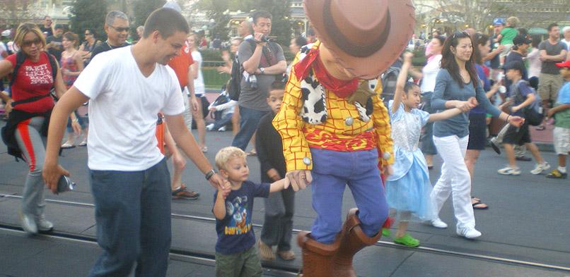 Aniversário na Disney: Magic Kingdom com Woody