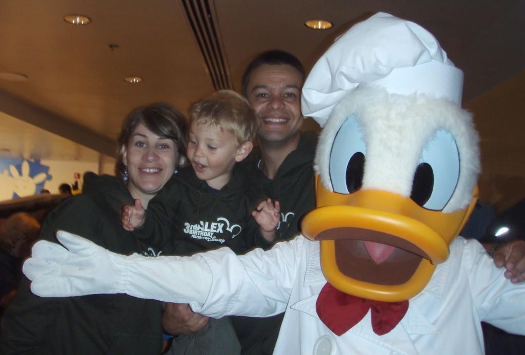 Aniversário na Disney: nós e o chef Donald