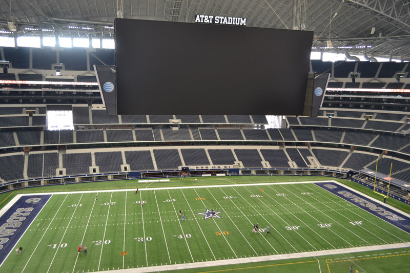 Dallas Cowboys Stadium: vista interna do estádio