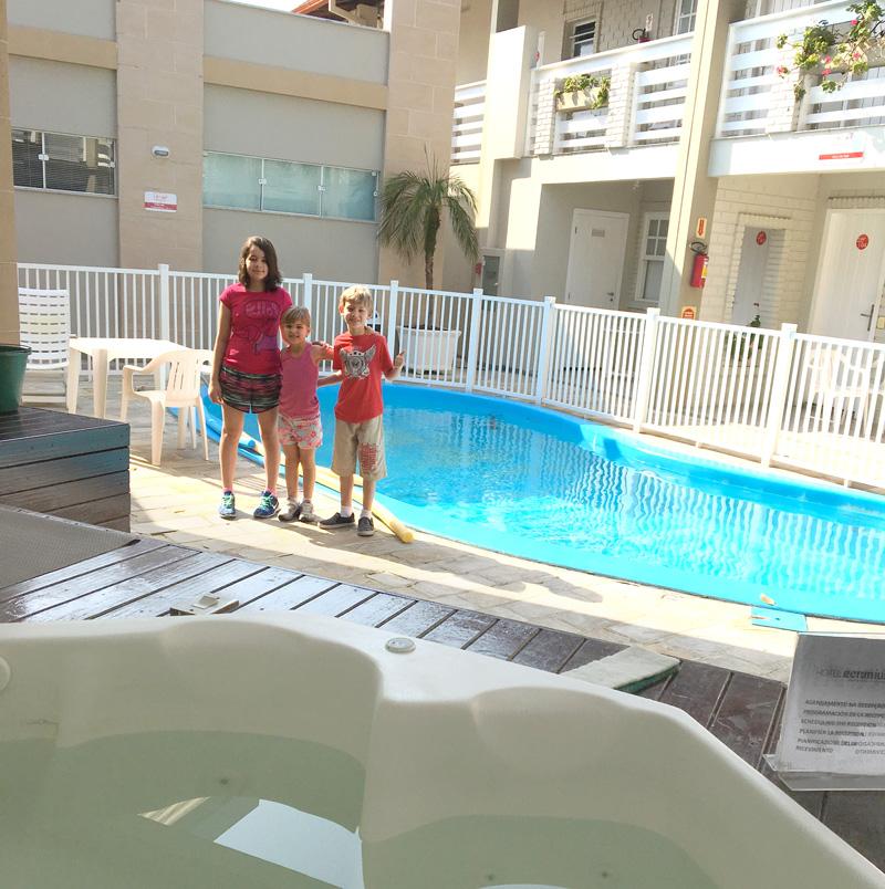 Onde ficar na Praia dos Ingleses? Hotel Geranius - Piscina e hidro