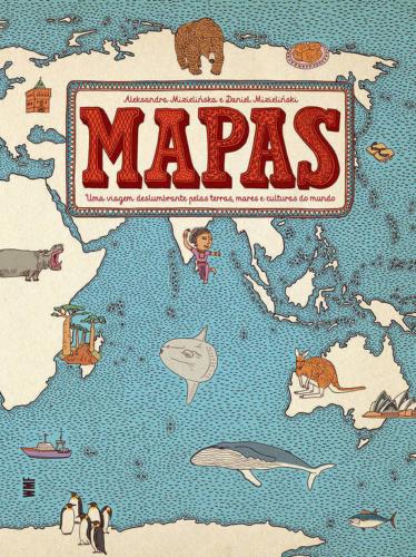 Livro de viagem para crianças: Capa Livro Mapas