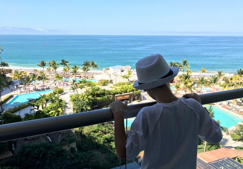 Onde ficar em Puerto Vallarta: Vista da sacada da Suite Junior no Now Amber