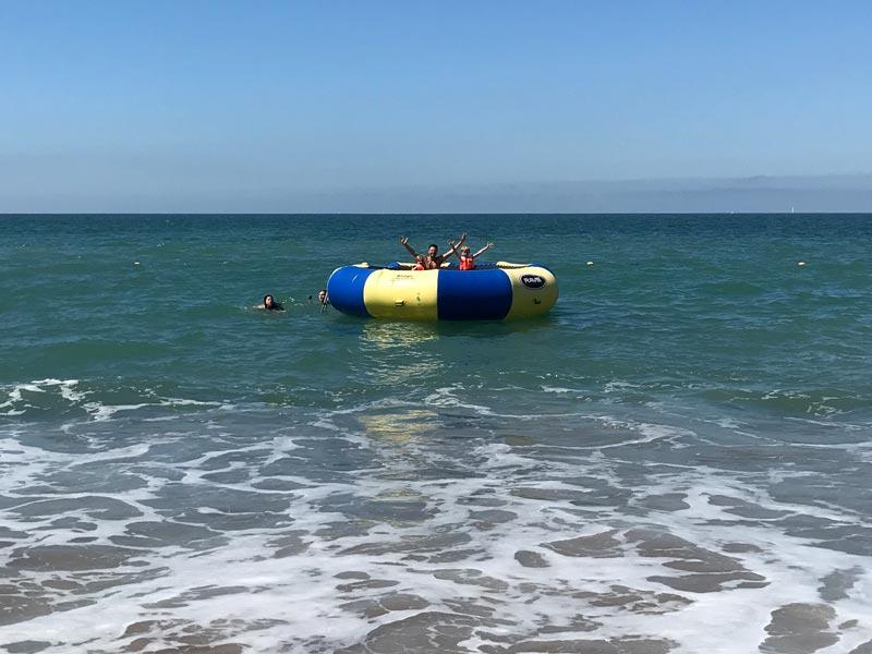 Onde ficar em Puerto Vallarta: Trampolim no mar no Now Amber