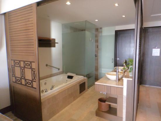 Onde ficar em Puerto Vallarta: Banheiro da Suite Junior no Now Amber
